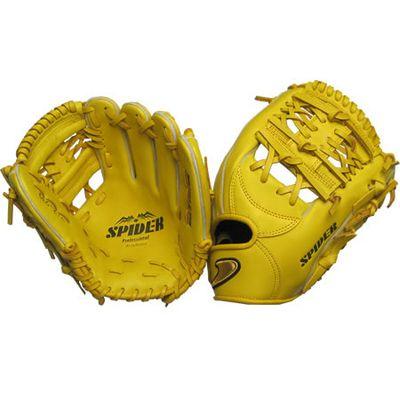 硬式二塁手・遊撃手用SPIDER 網ウェブイエロー 右投げ用 gl6-zya