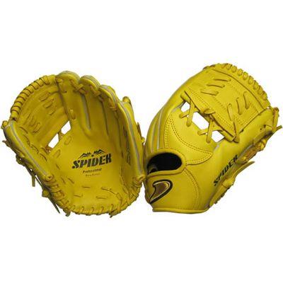 【在庫限り】【特別価格】硬式二塁手・遊撃手用SPIDER Tウェブイエロー 右投げ用 gl6-zyt