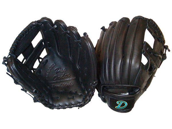 硬式二塁手・遊撃手用クロスウェブブラック 右投げ用 gl-600cb
