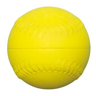 ゴムソフトボール練習球 イエロー3号サイズ 3sf-10ry