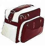 ☆特価☆セカンドバッグショルダー式ホワイト×エンジ tbg-wr