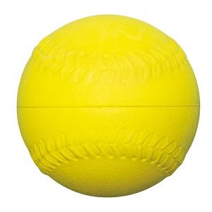 【在庫切れ】ゴムソフトボール練習球 イエロー直径71.2� sf-10ry