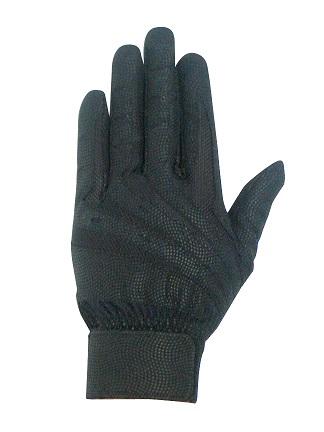 バッティンググラブ合皮両手用ブラック gbgb-2