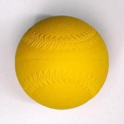 【☆特別価格☆】ゴムソフトボール練習球 イエロー1号サイズ 12球入り 1sf-10y